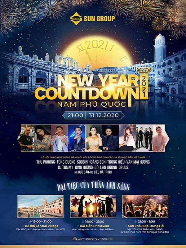 Countdown hoành tráng với Tùng Dương, Thu Phương và dàn sao hạng A làng nhạc Việt