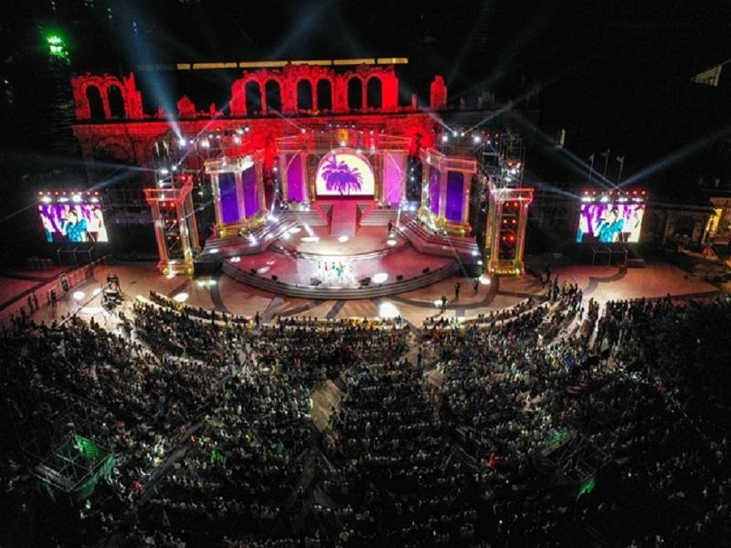 Sân khấu quảng trường ga An Thới dịp countdown