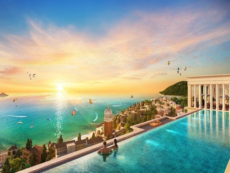 Bể bơi tại căn hộ sườn đồi Hillside Phú Quốc